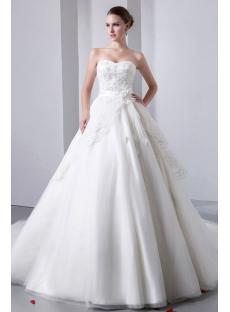 Luxurious Strapless Sweetheart Ball Gown Wedding Dresses