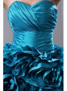 ... Luxurious Teal Blue 3D Handmade Floral Bridal Gowns 2014 with Sweetheart  ... 97bcf8a32