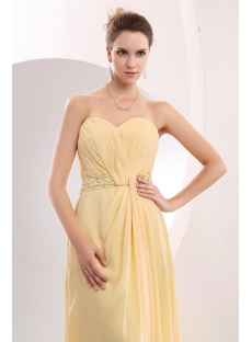 Maize Long Sweetheart Plus Size Prom Dresses with Slit