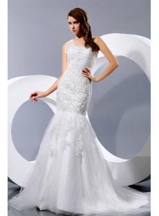 Modest Exquisite Mermaid Lace Bridal Gowns