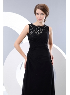 Modest Long Lace Black Formal Evening Party Dress