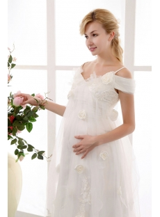 Pretty Affordable Off Shoulder Maternity Wedding Dresses
