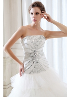 Pretty Drop Waist Corset Back Jeweled Bridal Gowns