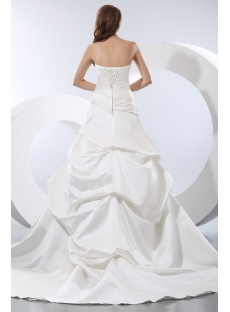 Pretty Sweetheart Satin Bridal Gown for Petite Bride