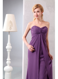 Purple Sweetheart Empire Chiffon Prom Gowns for Plus Size