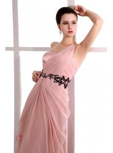 Romantic Coral One Shoulder Long Graduation Dresses for High School 2013