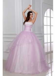Romantic Light Pink Ball Gown Quinceanera Dress for Mexico with Corset