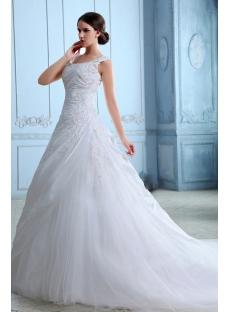 Romantic Taffeta A-line Wedding Dresses Brisbane with Cap Sleeves
