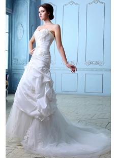 Romantic Taffeta Lace up Wedding Dresses Melbourne