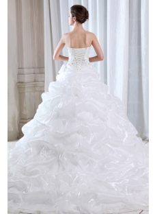 Seriously Stunning Sweetheart Pick up Wedding Dresses with Train