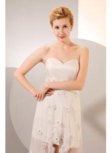 6ef1bfe389f Sexy High-low Summer Chiffon Beach Wedding Dress 1st-dress.com