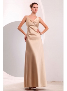 Simple Satin Sleeveless Champagne A-line Graduation Dresses