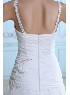 Spaghetti Straps Satin Cheap Mature Wedding Dress A-line