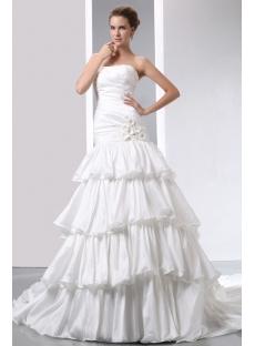 Strapless Fashion Layered Mermaid Wedding Dresses