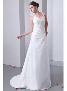 Straps A-line Informal Bridal Gown for Beach Wedding