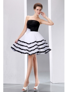 Stunning Black and White Short Formal Dresses