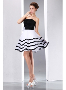 Stunning Black and White Short Formal Dresses:1st-dress.com
