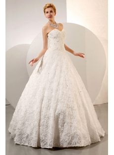 Sweetheart Dramatic Floral Bridal Ball Gowns