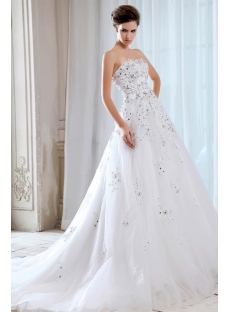 Sweetheart Luxury Celebrity 2014 Bridal Gowns with Corset