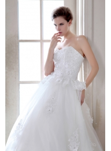 Traditional Sweetheart Gothic Ball Gown Wedding Dress