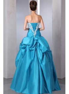 Unique Turquoise Blue Strapless Quinceanera Gown Dresses Pretty