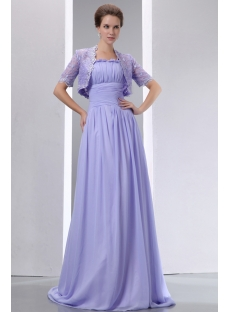 Vintage Straps Lavender Mother of Bride Dress with Lace Jacket
