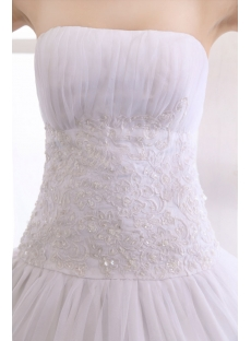 White Strapless Organza Floor Length 15 Quinceanera Ball Gown Dress