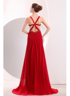 Wine Red Sexy Prom Dress Summer with Cross Straps Back
