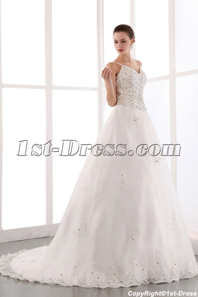 images/201401/big/Beautiful-Spaghetti-Straps-Beaded-Organza-Plus-Size-Bridal-Gowns-with-Train-4288-b-1-1390494285.jpg