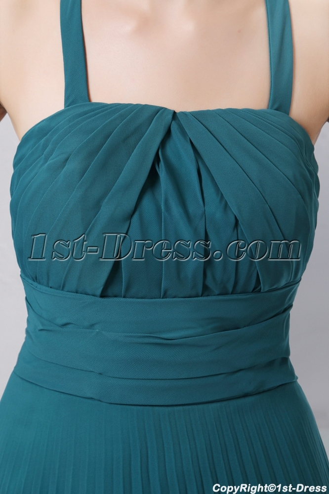 cd37e0174f prev  next. Specifications. Product Name  Best Teal Blue Straps Pleat  Chiffon Long Prom Dress ...