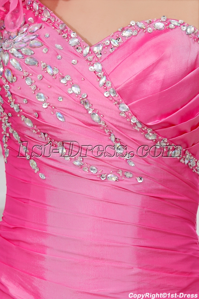 7807928171 prev  next. Specifications. Product Name  Charming Pink One Shoulder  Graduation Dresses for High School