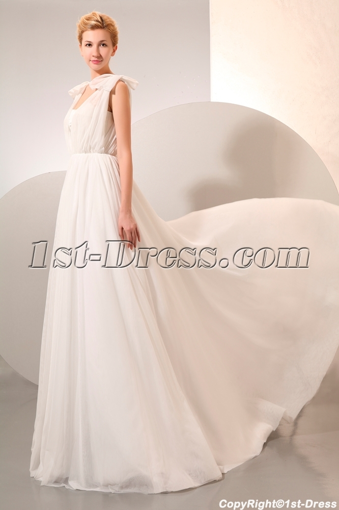 Cheap beach wedding dresses chiffon for second wedding 1st for Beach chiffon wedding dress
