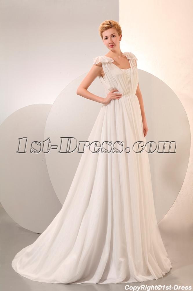 887f4e21eb5a Cheap Beach Wedding Dresses Chiffon for Second Wedding (Free Shipping)