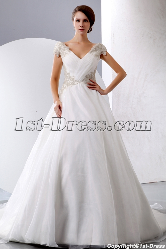 Exquisite Princess Wedding Dress Off Shoulder With Corset Loading Zoom