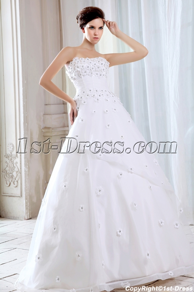 Floor Length Fairytale Ball Gown Wedding Dresses:1st-dress.com