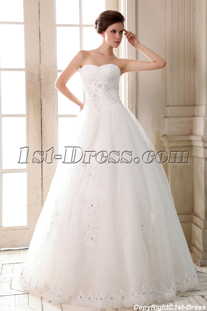 Ivory sweetheart outdoor ball gown wedding dresses for for Casual outdoor wedding dresses