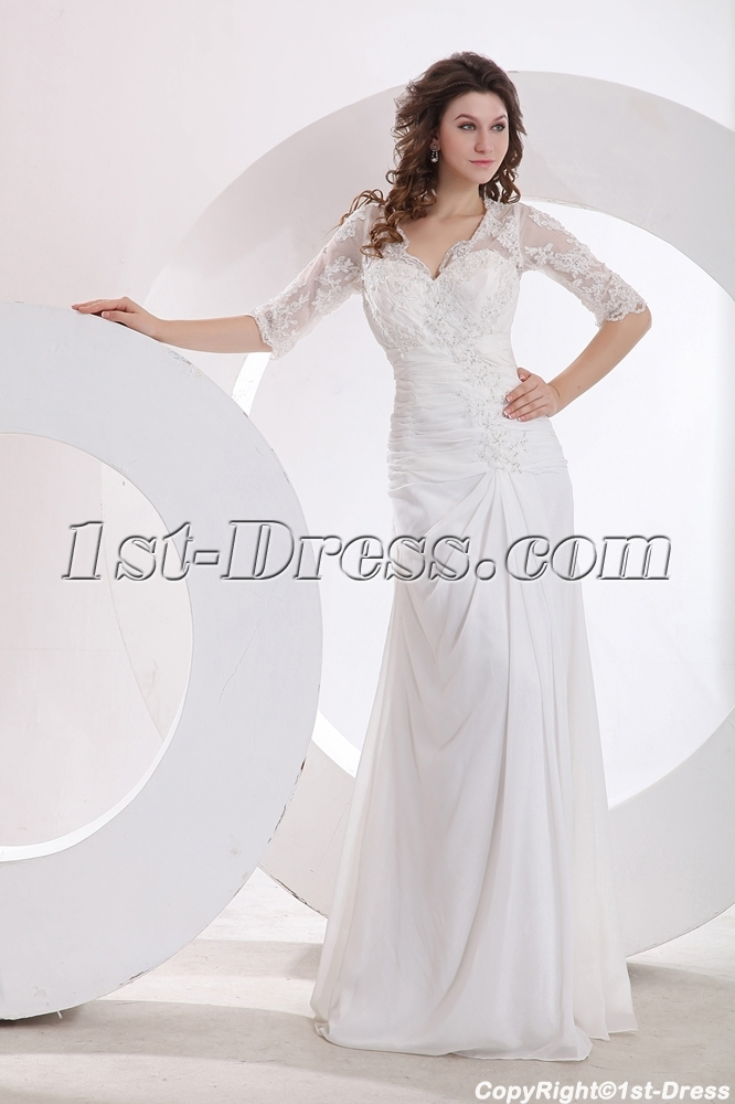 images/201401/big/Modest-Lace-A-line-Bridal-Gown-with-Middle-Sleeves-3957-b-1-1388756369.jpg