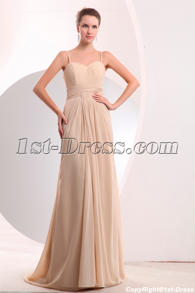 Images 201701 Pretty Champagne Chiffon Long