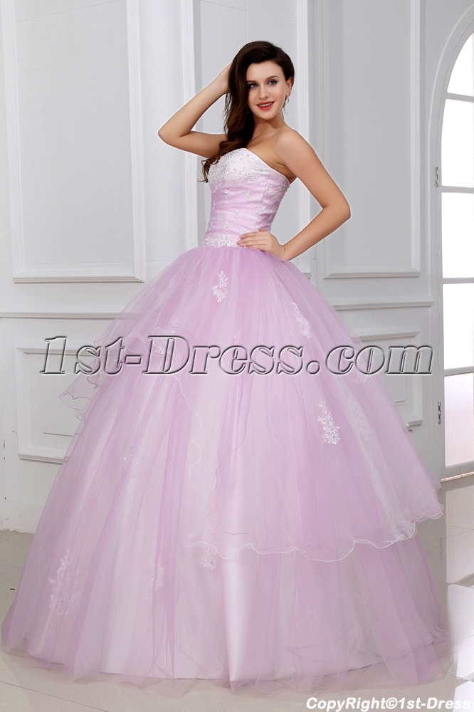 Romantic Light Pink Ball Gown Quinceanera Dress For Mexico With Corset 1st Dress Com
