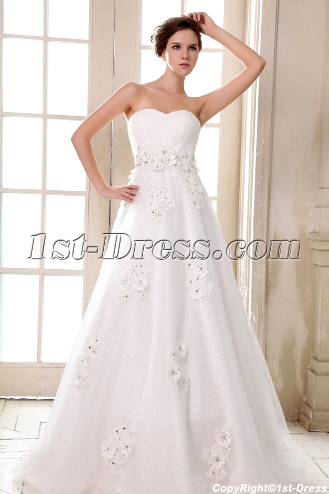Romantic Sweetheart Empire Plus Size Wedding Dresses Chicago:1st ...