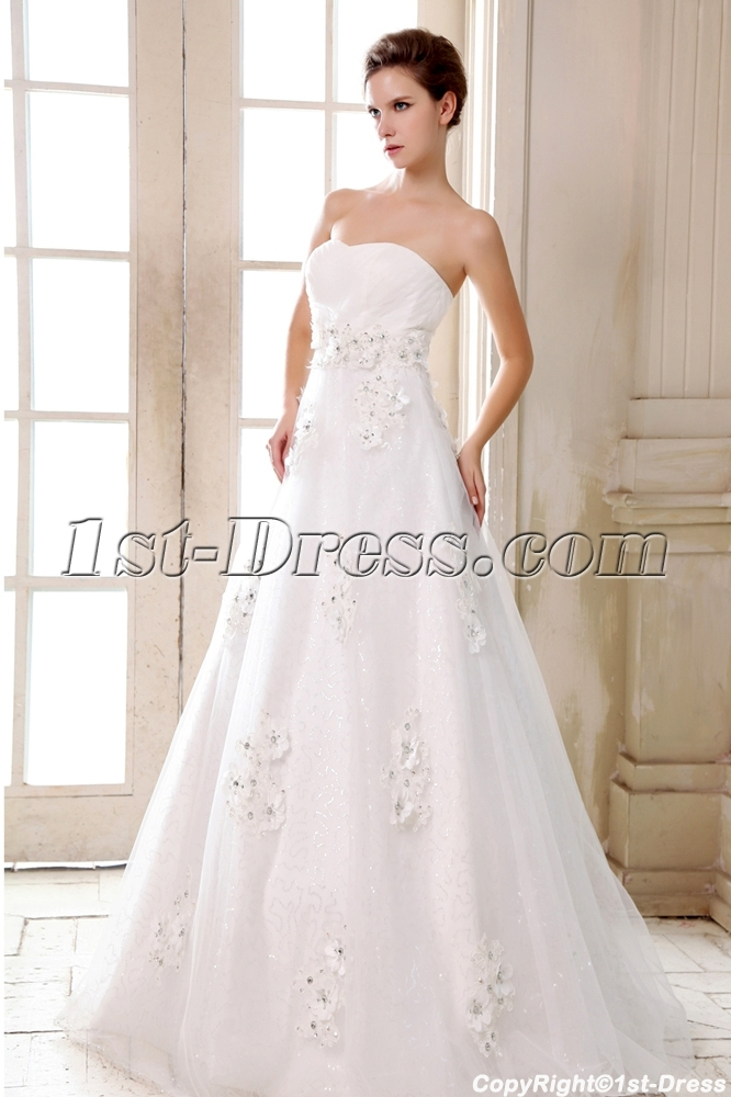 Romantic Sweetheart Empire Plus Size Wedding Dresses Chicago