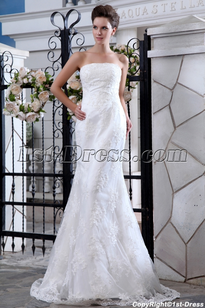 images/201401/big/Strapless-Simple-Lace-Wedding-Dress-with-Sweep-Train-4064-b-1-1389611884.jpg