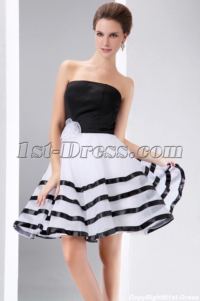 b13bd5bd638 Stunning Black and White Short Formal Dresses (Free Shipping)