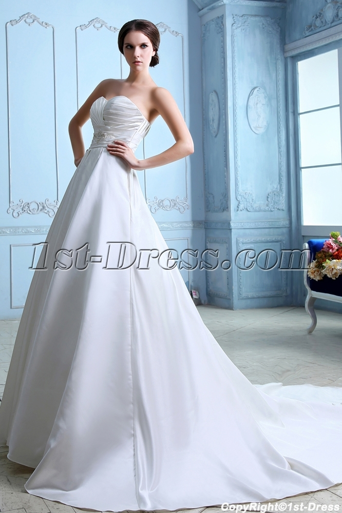 Sweet A-line Long Corset Couture Wedding Dresses Sydney:1st-dress.com