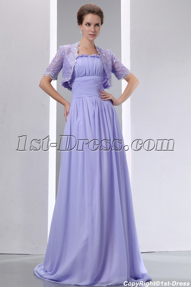 Vintage Straps Lavender Mother of Bride Dress with Lace Jacket:1st ...