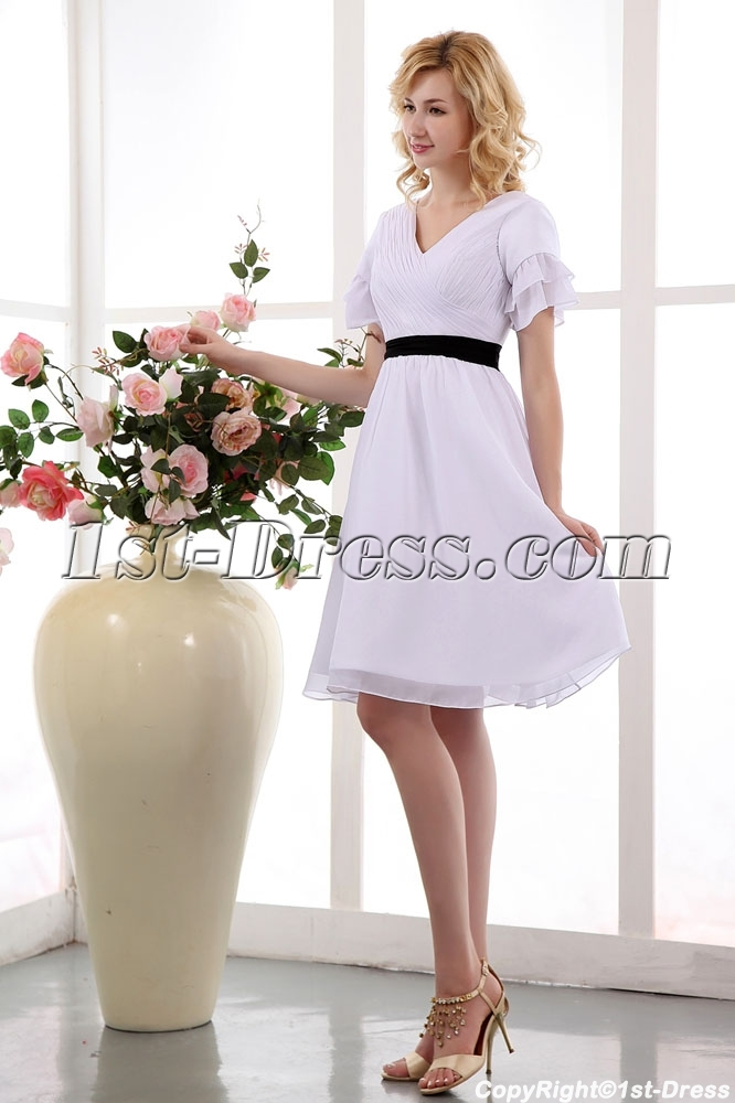 White Knee Length Cocktail Dress