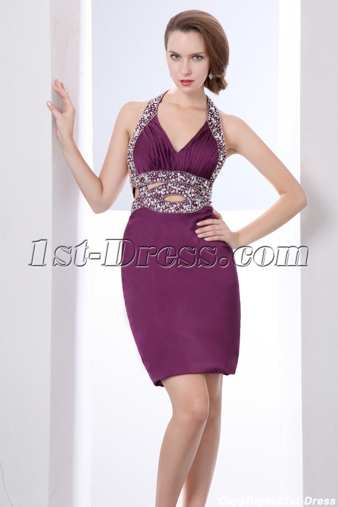 grape sexy graduation dresses for college:1st-dress.com