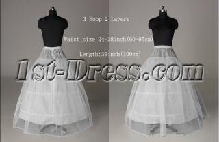 2 Layers 3 Hoop Princess Wedding Dresses Petticoats