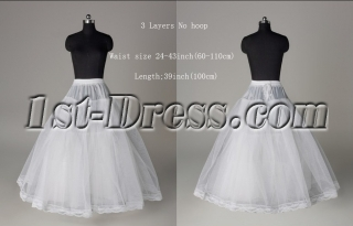 3 Layers No Hoop Petticoats for Wedding Dresses