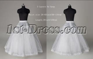 3 Layers No Hoop Petticoats for Wedding Dresses